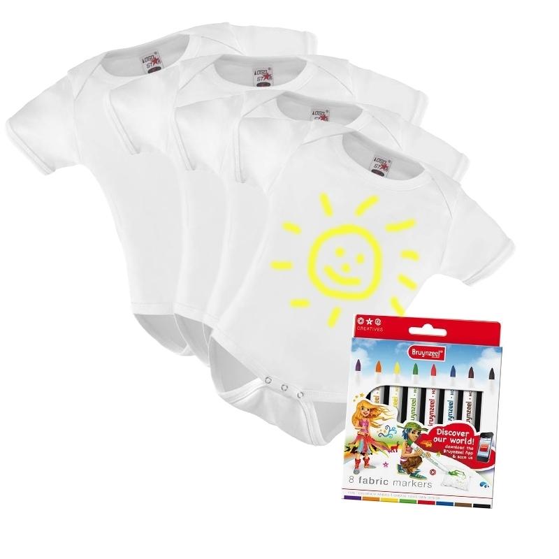 Babyshower rompers versieren pakket