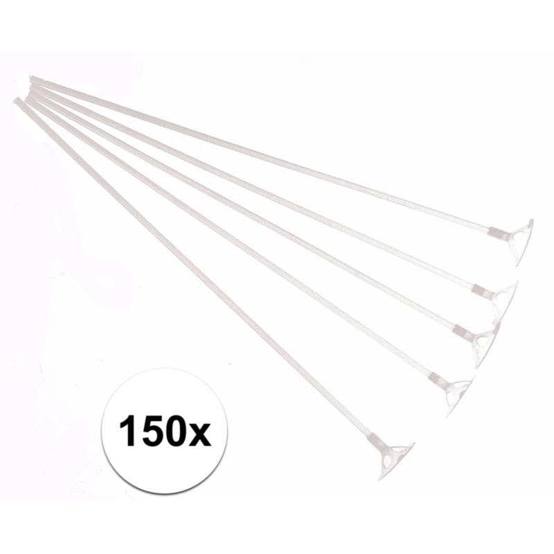 Ballonstaafjes wit 150 stuks
