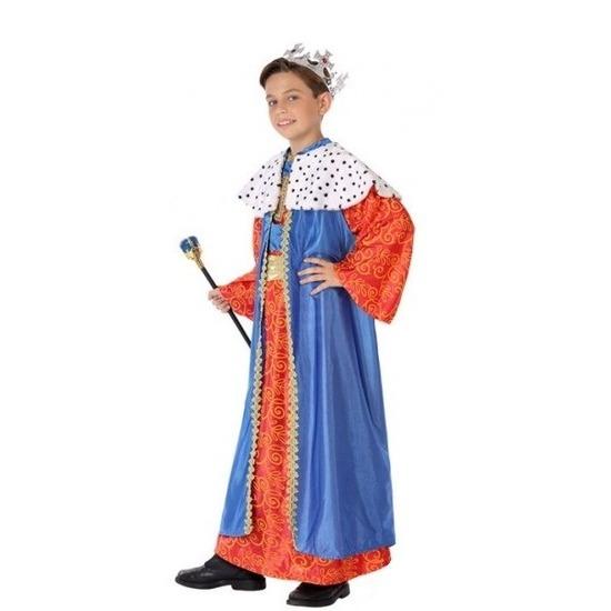 Balthasar Drie Wijzen kostuum voor kids blauw