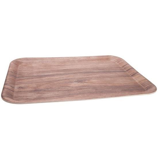 Bamboe dienblad/serveerblad 43 x 32 cm Bruin