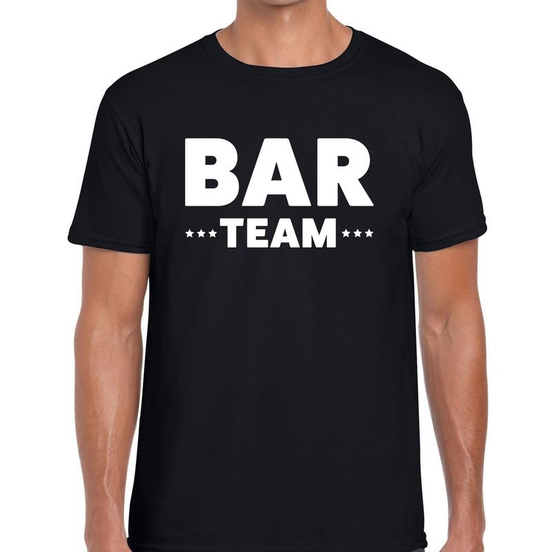 Bar team - personeel tekst t-shirt zwart heren