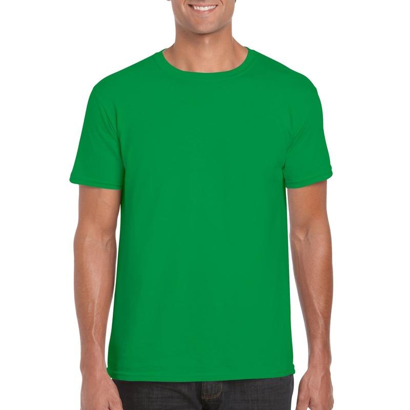 Basic groen shirt voor heren XS