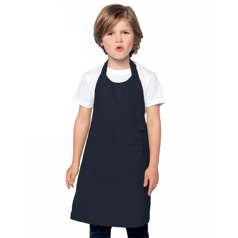 Basic kinderschort donkerblauw Blauw