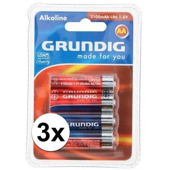 Batterijen LR6 AA Grundig 12 stuks