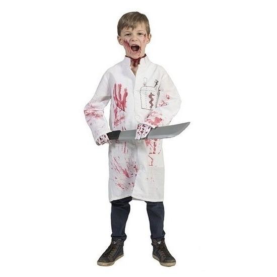 Bebloede doktersjas voor kinderen maat 164