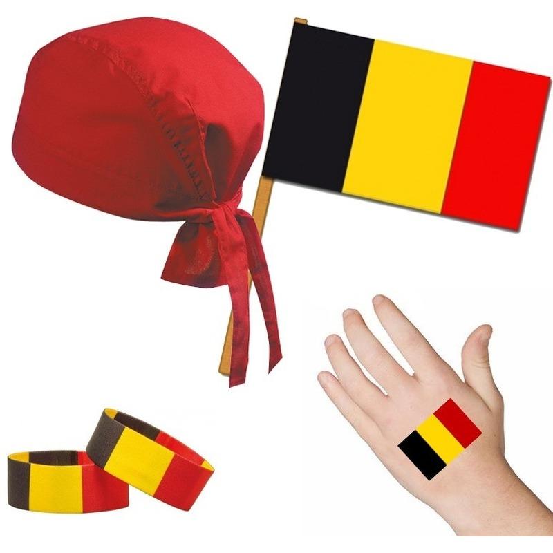 Belgie/Belgisch thema verkleed set voor volwassenen
