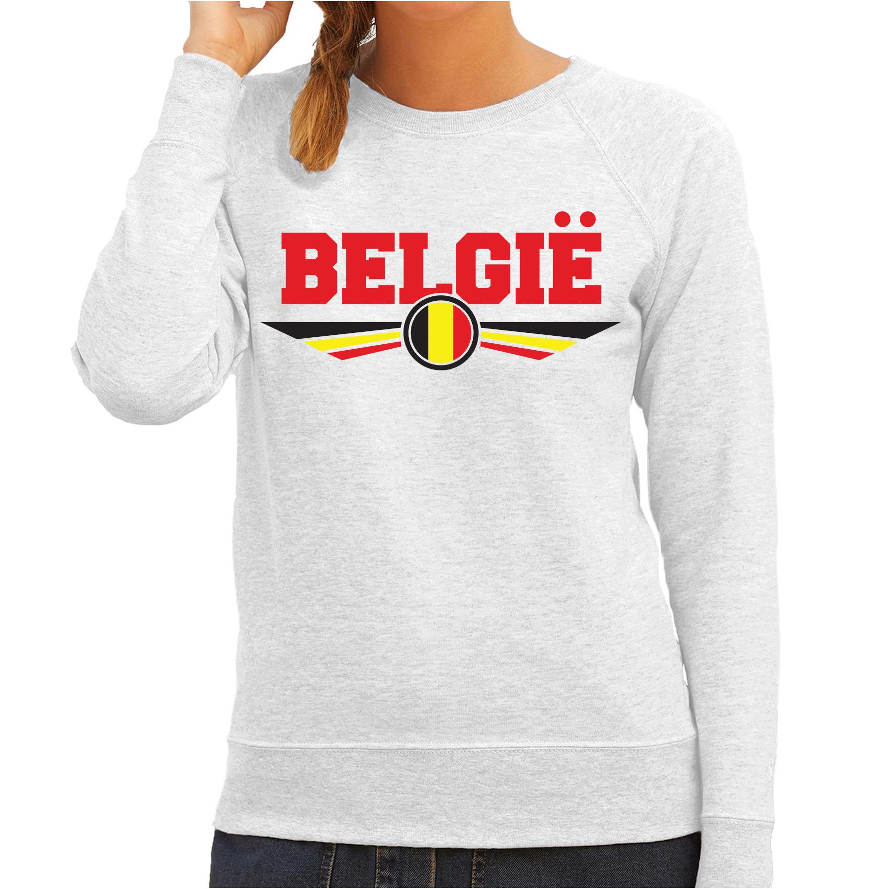 Belgie landen sweater grijs dames