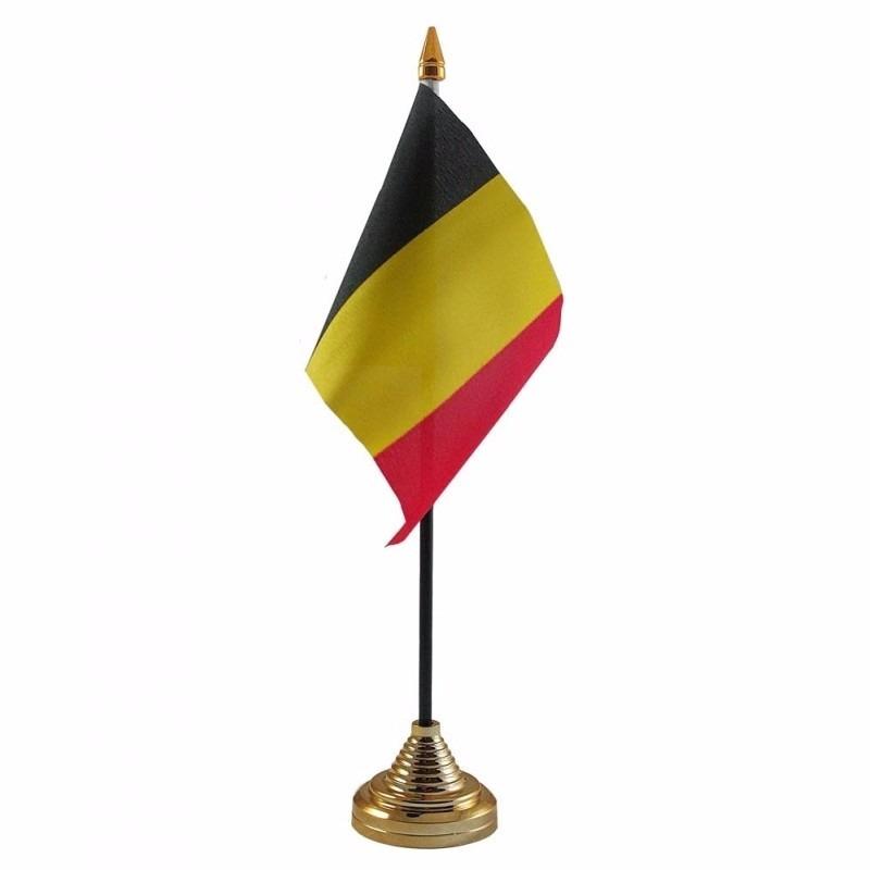 Belgie tafelvlaggetje 10 x 15 cm met standaard