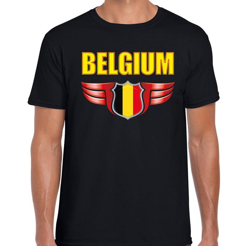 Belgium landen t-shirt Belgie zwart voor heren