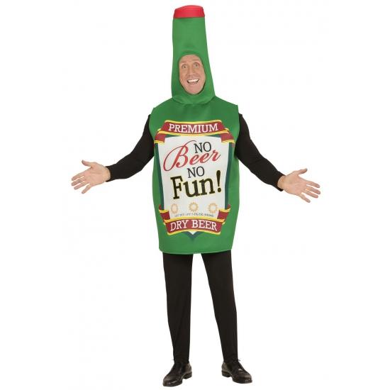 Bierfles kostuum groen voor volwassenen