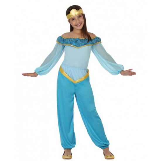 Blauw arabische prinses kostuum