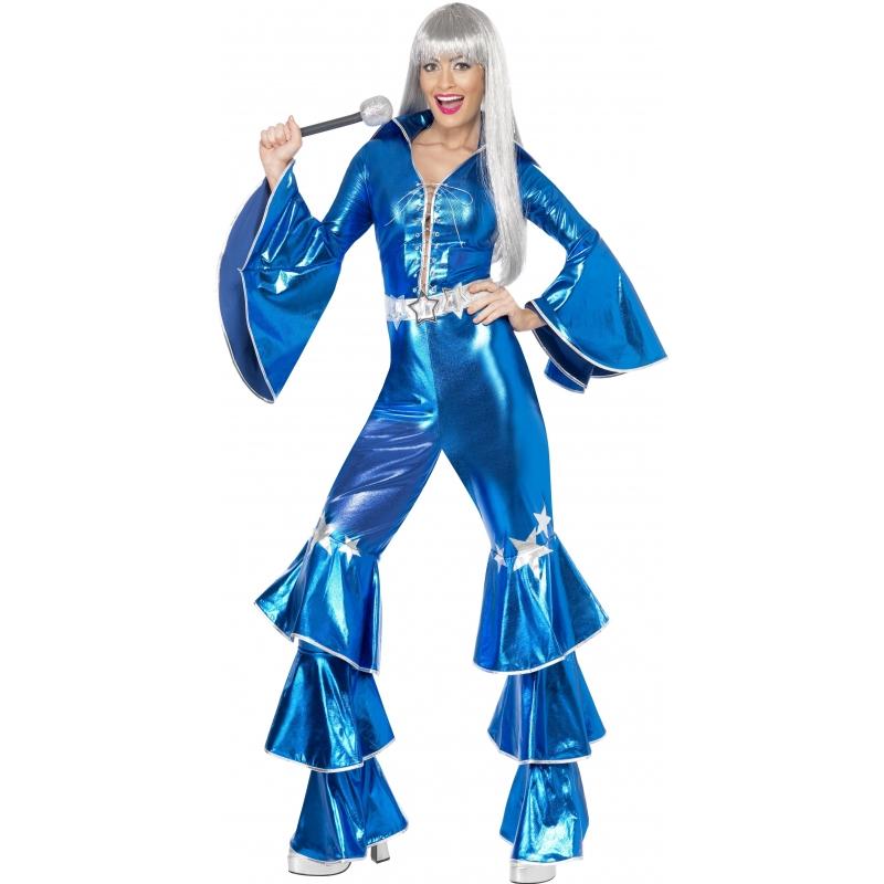 Blauw dancing queen kostuum 70s