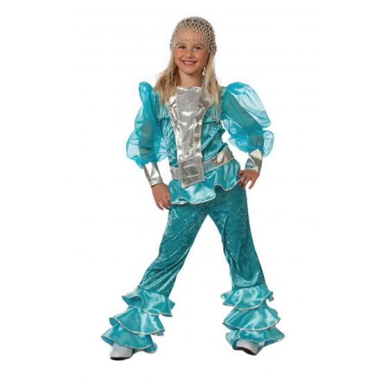 Blauw Mama Mia kostuum voor meisjes