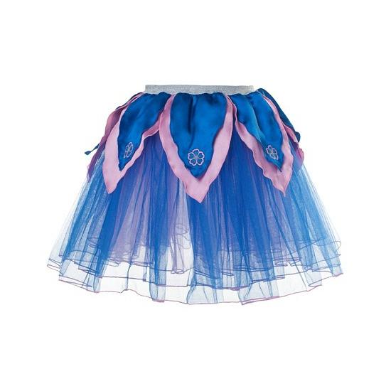 Blauw/roze tutu rokje voor meiden