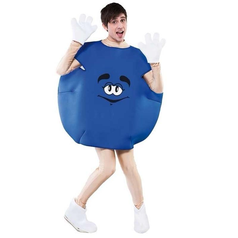 Blauw snoep pak voor volwassenen