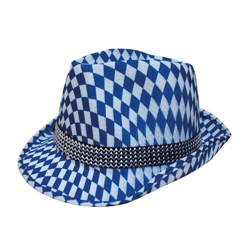 Blauw/wit Beieren hoedje verkleedaccessoire voor volwassenen