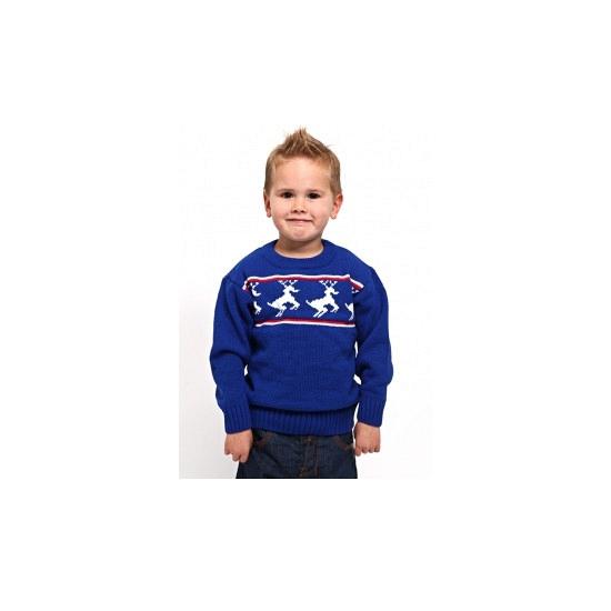 Blauwe kerst ski polo voor kinderen