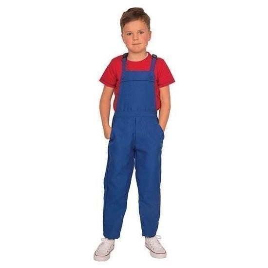 Blauwe tuinbroek/overall voor kinderen