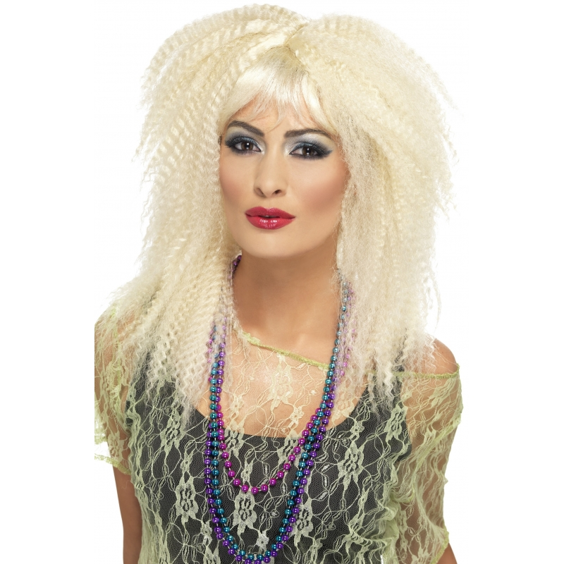 Blonde jaren 80 pruik