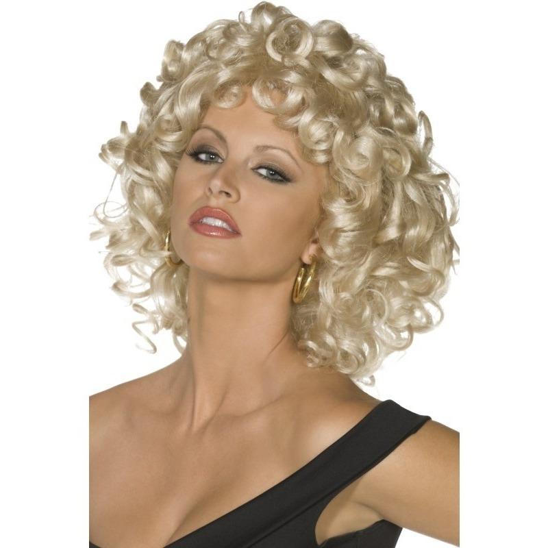 Blonde Sandy Grease pruik voor dames