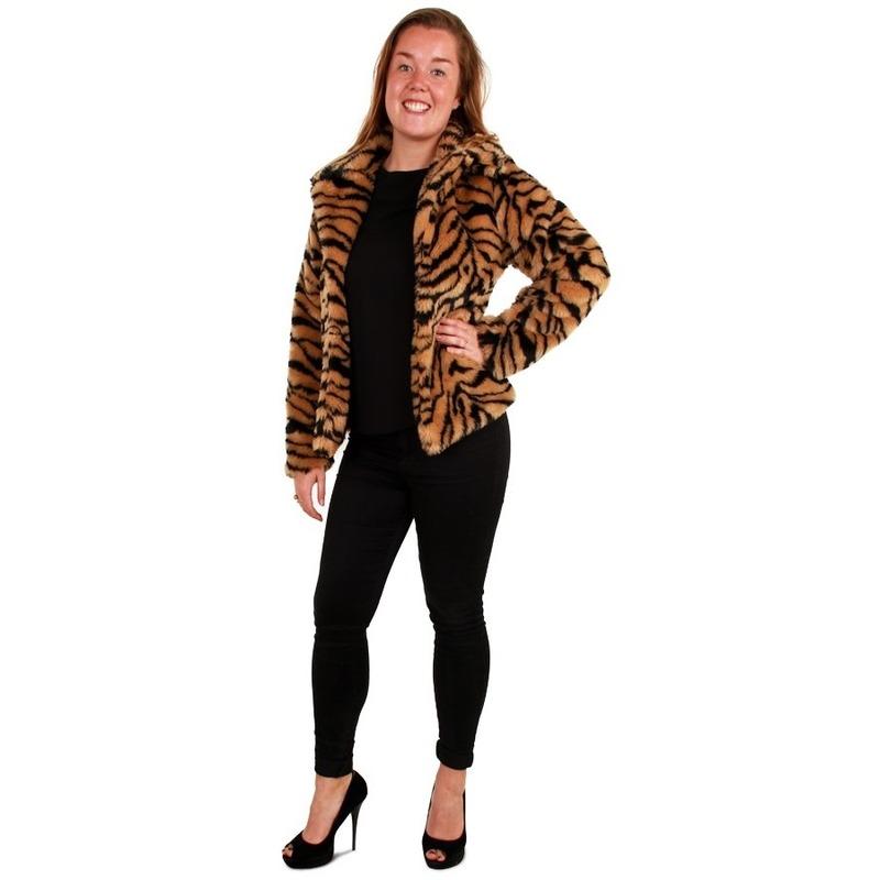 Bontjas tijger print voor dames