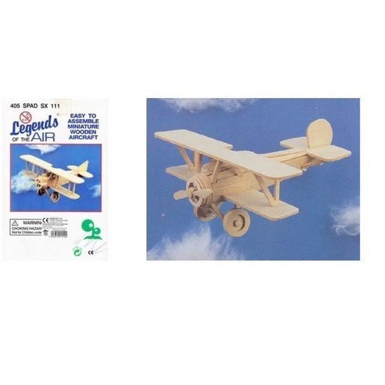 Bouwmodel set vliegtuig Nieuwport 404 en 405 Spad Beige