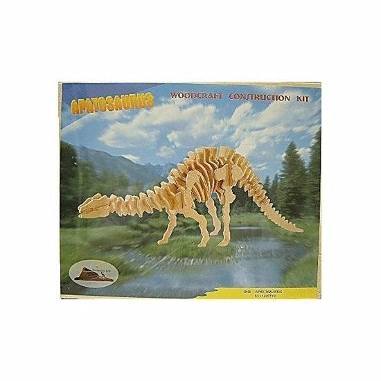 Bouwpakket Apathosaurus dinosaurus hout Beige