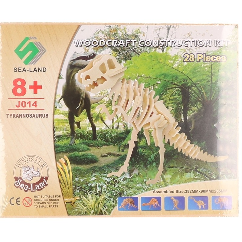 Bouwpakket dinosaurus Tyrannosaurus Rex hout - 3D puzzels