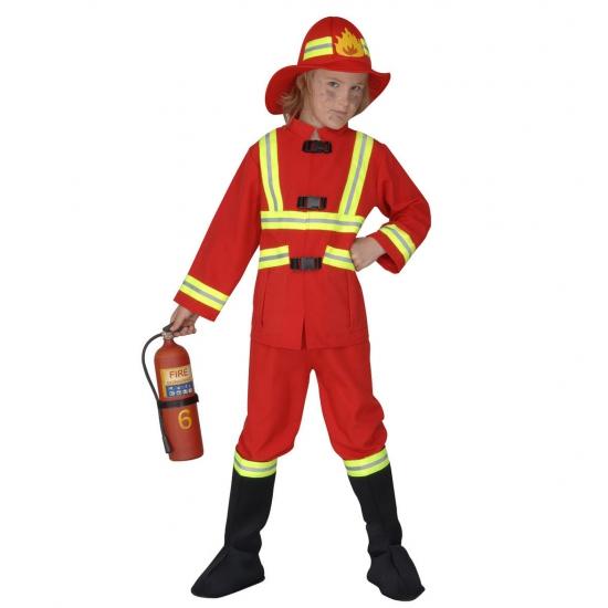 Brandweer kostuum kids rood