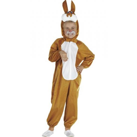 Bruin pluche paashazen kostuum voor kinderen