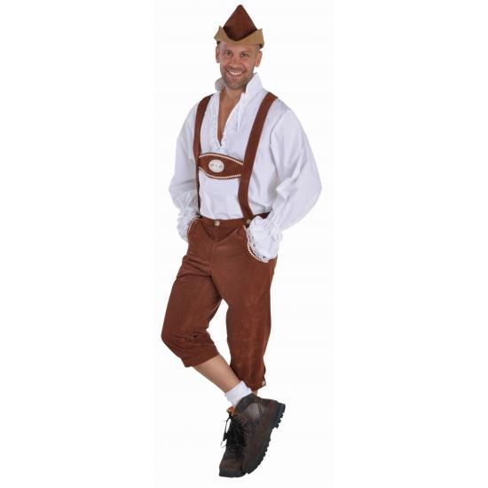 Bruine lederhosen verkleedkleding voor heren