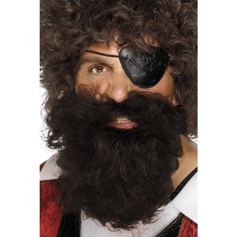 Bruine piraten verkleed baard voor heren