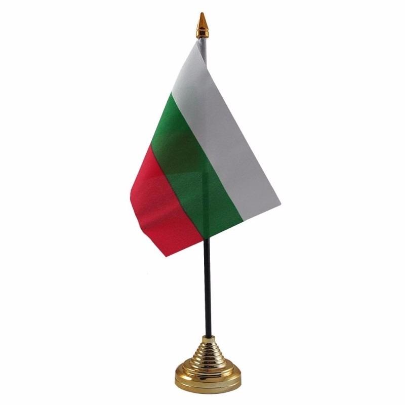 Bulgarije tafelvlaggetje 10 x 15 cm met standaard