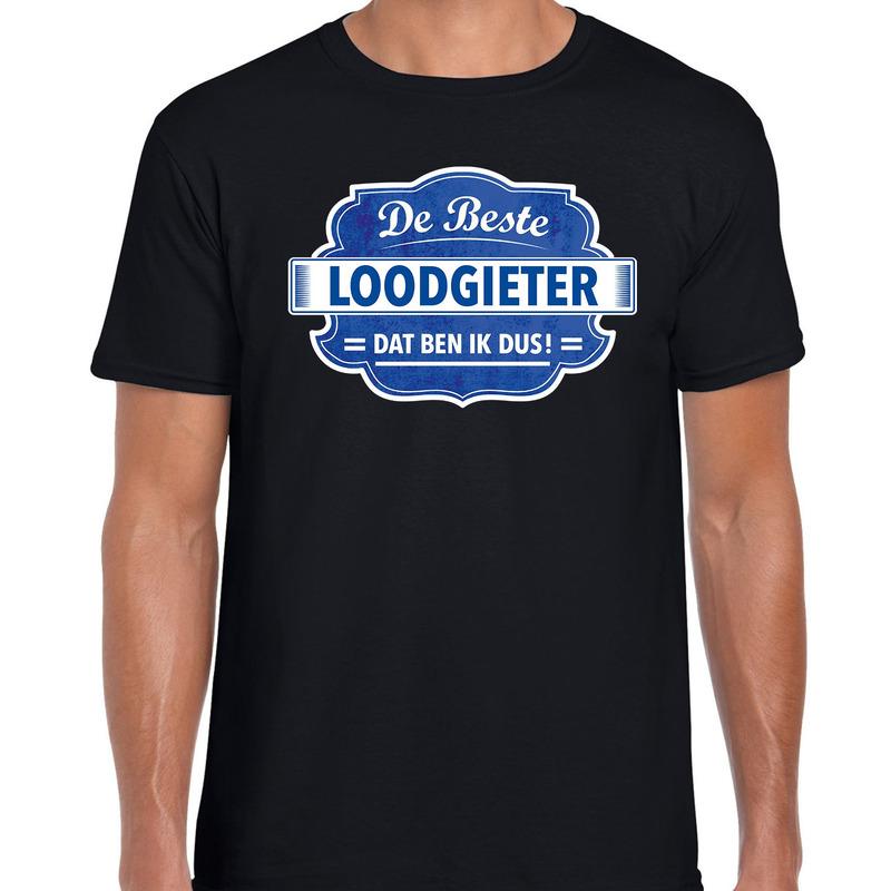Cadeau t-shirt voor de beste loodgieter zwart voor heren