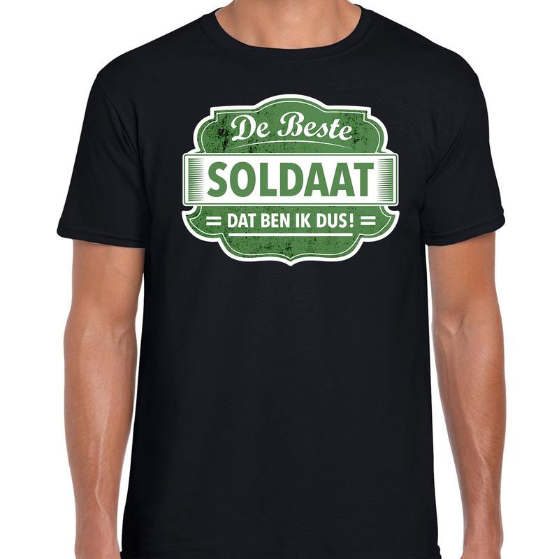 Cadeau t-shirt voor de beste soldaat zwart voor heren