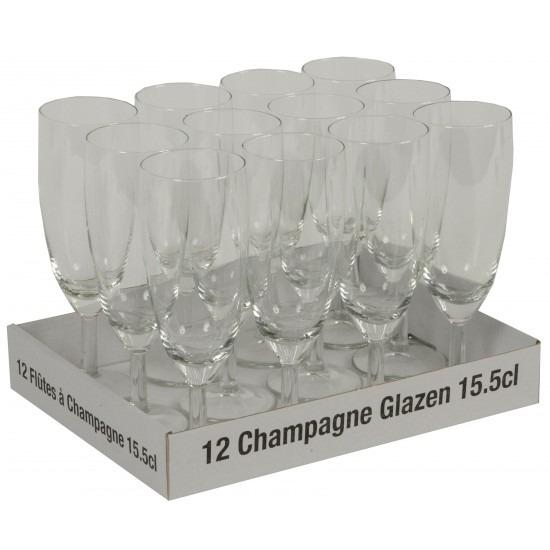 Champagne flute 12 stuks - 10 + 2 gratis Multi