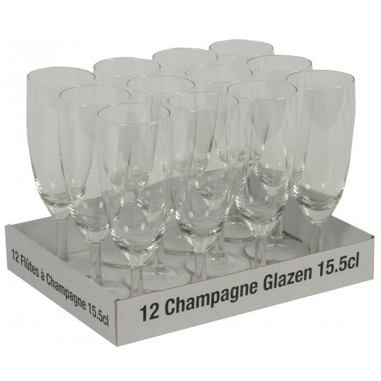 Champagne glazen 12 stuks - 10 + 2 gratis Multi