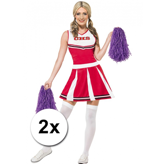 Cheerballs paars 2 stuks