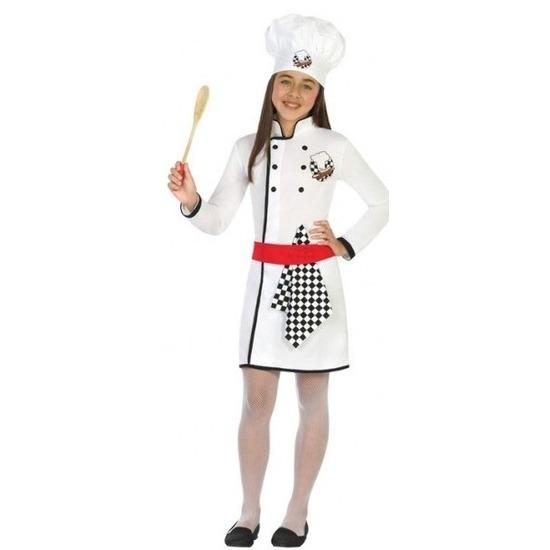Chef kok verkleed kostuum/jurk voor meisjes