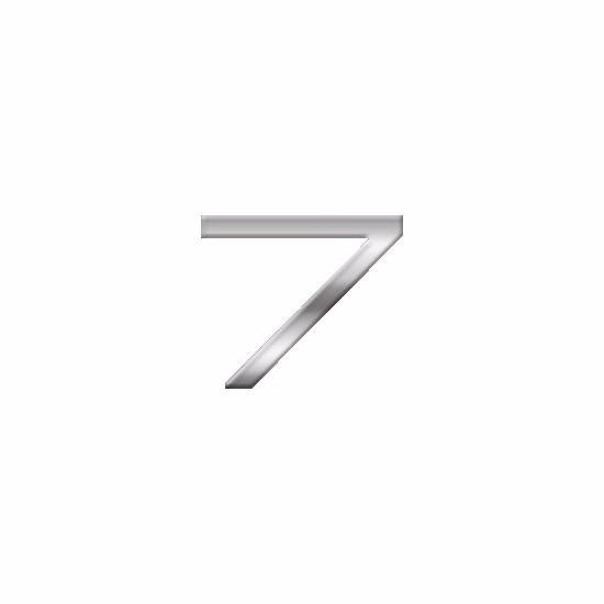 Chrome 3d plakcijfer 7 van 2,5 cm