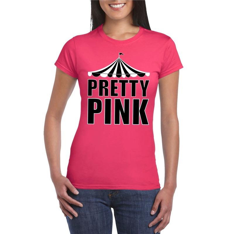 Circus t-shirt roze Pretty Pink dames