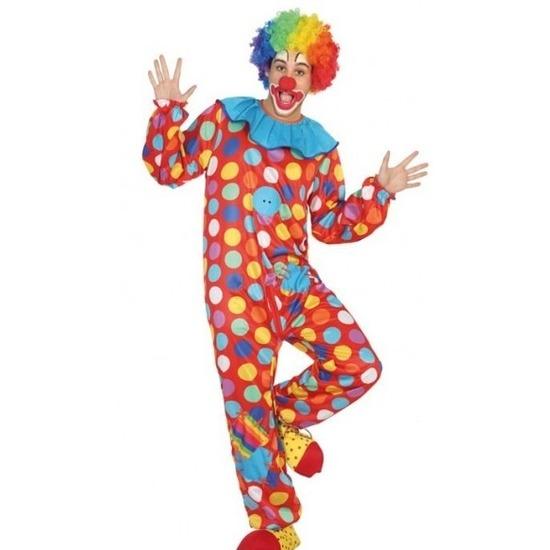 Clown verkleed pak/kostuum voor heren