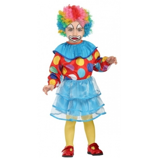 Clownspakje voor peuter meisjes