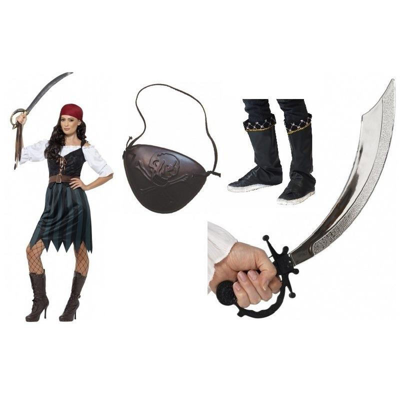 Compleet piraten kostuum voor dames