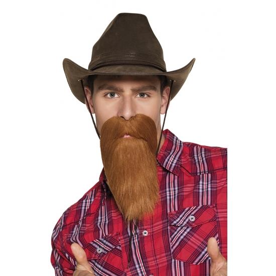 Cowboy baard rood