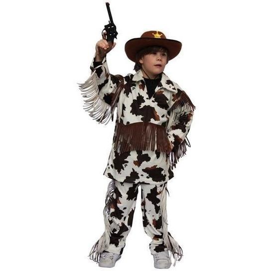 Cowboy kostuum met koeienprint voor kinderen