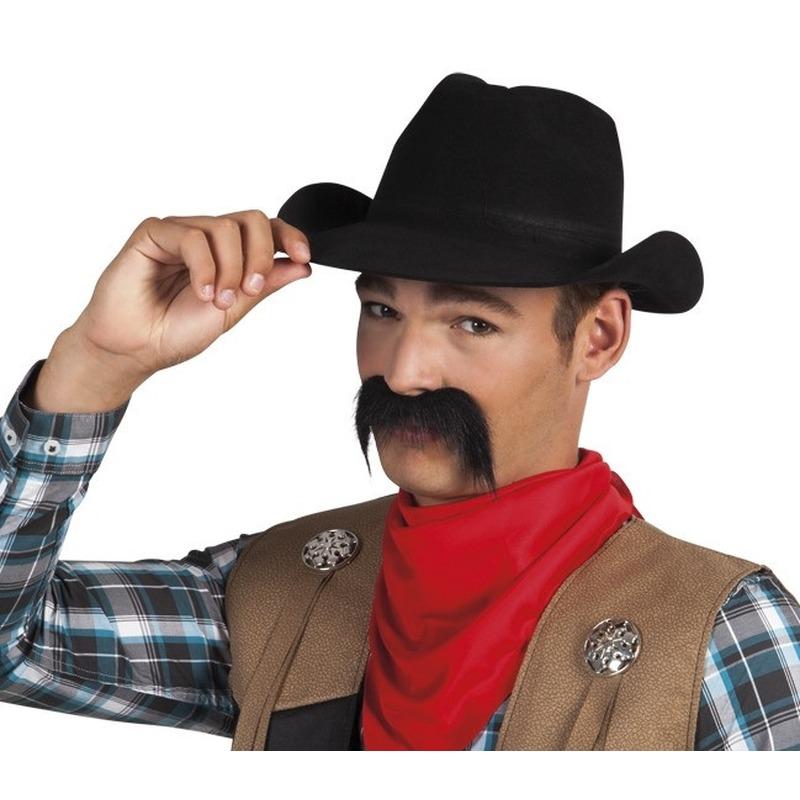 Cowboy snor zwart