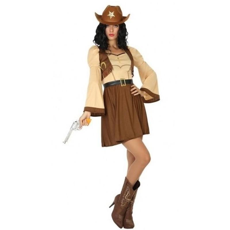 Cowgirl/cowboy Cassidy verkleed kostuum/jurk voor dames