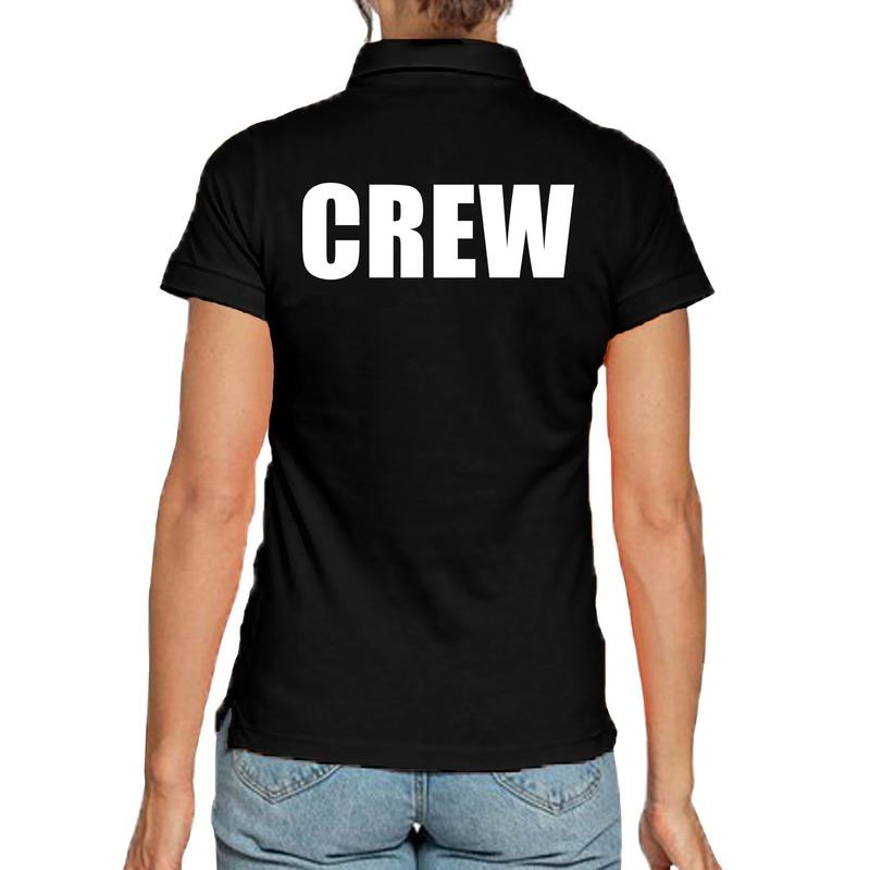 Crew poloshirt zwart voor dames