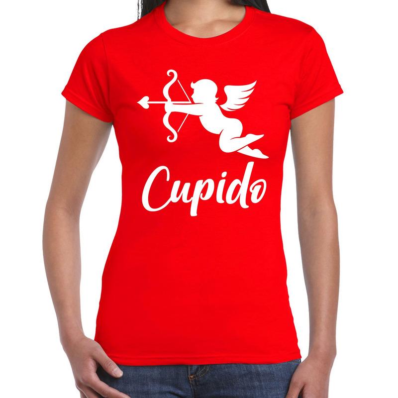 Cupido liefde Valentijn verkleed t-shirt rood voor dames